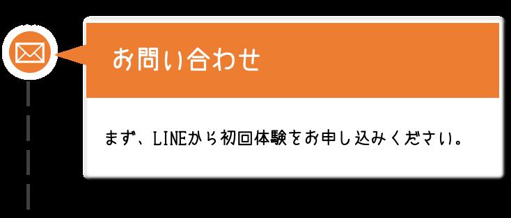 【お問い合わせ】まず、LINEから初回体験をお申し込みください。