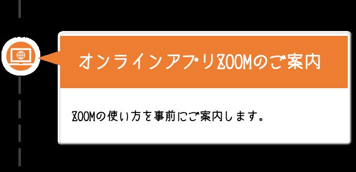 【オンラインアプリZOOMのご案内】ZOOMの使い方を事前にご案内します。