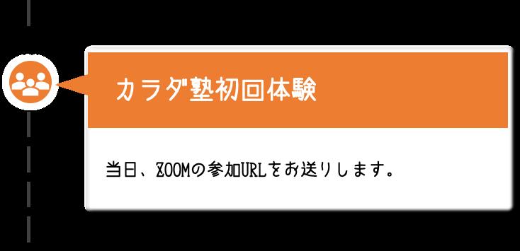 【カラダ塾初回体験】当日、ZOOMの参加URLをお送りします。